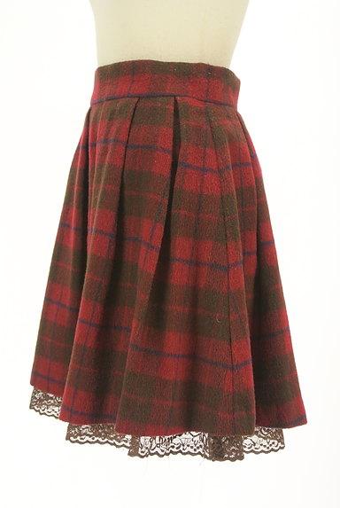 LODISPOTTO(ロディスポット)の古着「裾レースチェック柄フレアミニスカート(ミニスカート)」大画像3へ