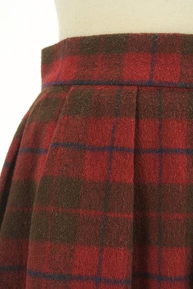 LODISPOTTO(ロディスポット)の古着「裾レースチェック柄フレアミニスカート(ミニスカート)」大画像4へ