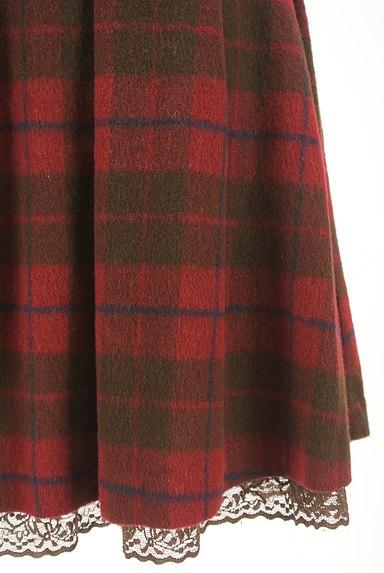 LODISPOTTO(ロディスポット)の古着「裾レースチェック柄フレアミニスカート(ミニスカート)」大画像5へ