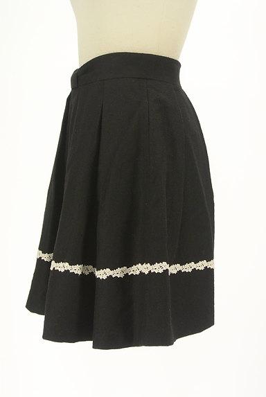 LODISPOTTO(ロディスポット)の古着「花刺繍ラインミニフレアスカート(ミニスカート)」大画像3へ