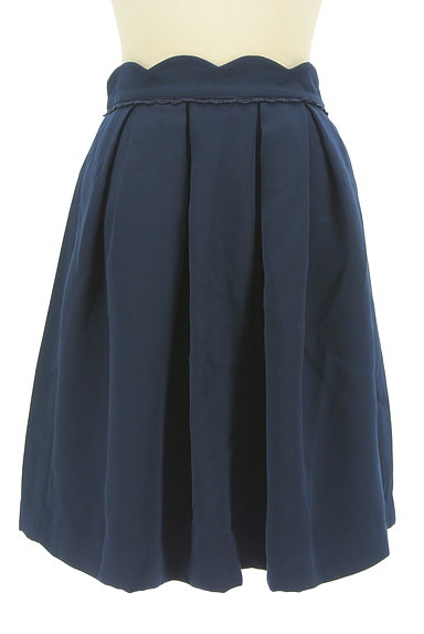 LODISPOTTO(ロディスポット)の古着「スカラップ膝丈タックフレアスカート(スカート)」大画像1へ