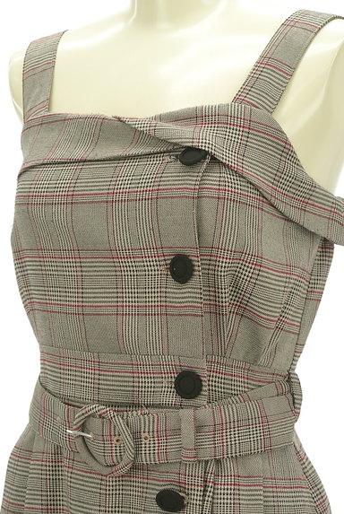 LODISPOTTO(ロディスポット)の古着「ベルト付き膝下丈チェック柄ワンピース(キャミワンピース)」大画像4へ
