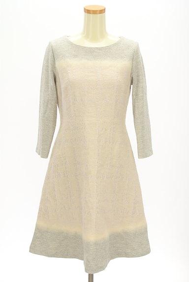 LAUTREAMONT(ロートレアモン)の古着「刺繍風織地膝下丈起毛ワンピース(ワンピース・チュニック)」大画像1へ