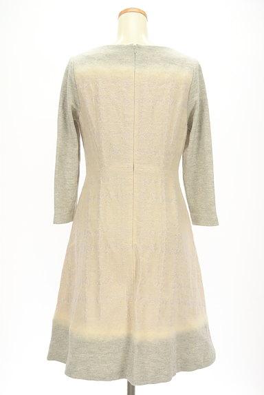 LAUTREAMONT(ロートレアモン)の古着「刺繍風織地膝下丈起毛ワンピース(ワンピース・チュニック)」大画像2へ