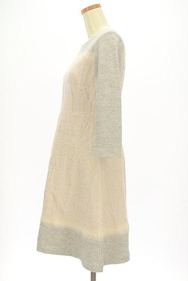 LAUTREAMONT(ロートレアモン)の古着「刺繍風織地膝下丈起毛ワンピース(ワンピース・チュニック)」大画像3へ