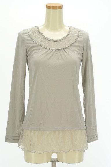 axes femme(アクシーズファム)の古着「裾レースプルオーバー(カットソー・プルオーバー)」大画像1へ