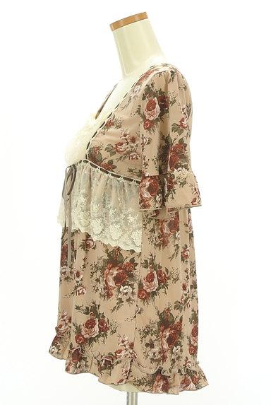 axes femme(アクシーズファム)の古着「花柄フリルレースプルオーバー(カットソー・プルオーバー)」大画像3へ