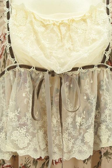 axes femme(アクシーズファム)の古着「花柄フリルレースプルオーバー(カットソー・プルオーバー)」大画像4へ