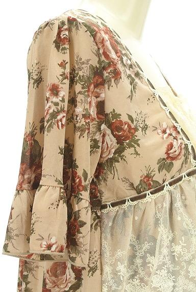 axes femme(アクシーズファム)の古着「花柄フリルレースプルオーバー(カットソー・プルオーバー)」大画像5へ