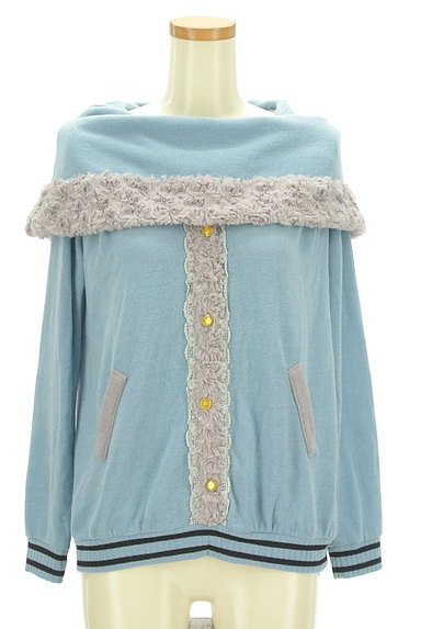 axes femme(アクシーズファム)の古着「ボアライン襟付きプルオーバー(カットソー・プルオーバー)」大画像1へ