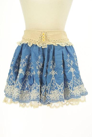 LIZ LISA(リズリサ)の古着「レース付き刺繍ミニフレアスカート(ミニスカート)」大画像1へ