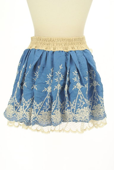 LIZ LISA(リズリサ)の古着「レース付き刺繍ミニフレアスカート(ミニスカート)」大画像2へ