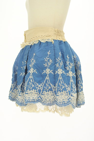 LIZ LISA(リズリサ)の古着「レース付き刺繍ミニフレアスカート(ミニスカート)」大画像3へ