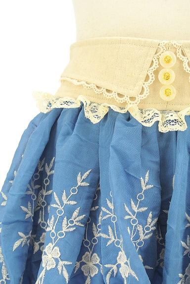LIZ LISA(リズリサ)の古着「レース付き刺繍ミニフレアスカート(ミニスカート)」大画像4へ