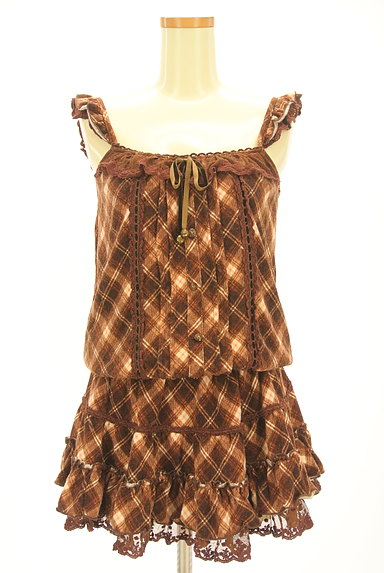 LIZ LISA(リズリサ)の古着「チェック柄キャミチュニック(キャミワンピース)」大画像1へ