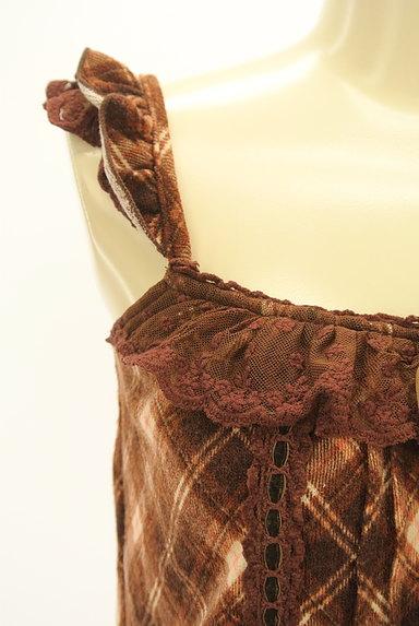 LIZ LISA(リズリサ)の古着「チェック柄キャミチュニック(キャミワンピース)」大画像4へ