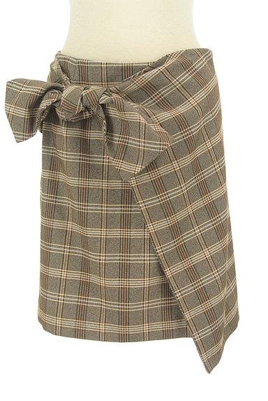31 Sons de mode(トランテアン ソン ドゥ モード)の古着「リボン付きラップ風起毛ミニスカート(スカート)」大画像1へ