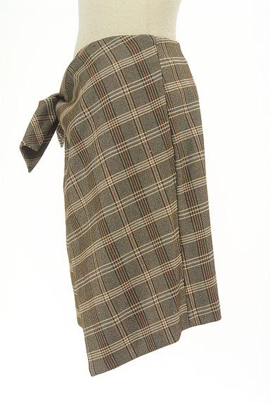 31 Sons de mode(トランテアン ソン ドゥ モード)の古着「リボン付きラップ風起毛ミニスカート(スカート)」大画像3へ