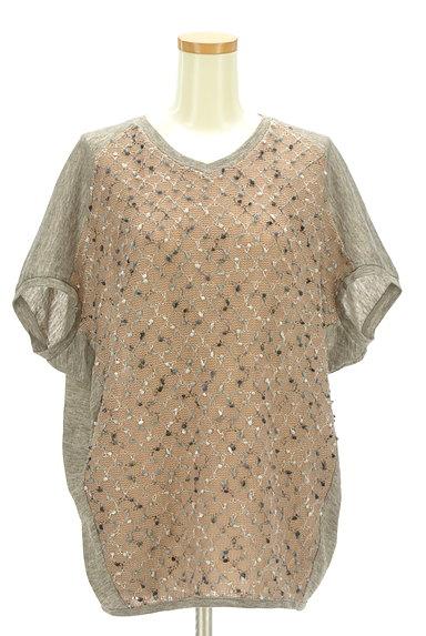 antiqua(アンティカ)の古着「ポコポコ凹凸編みドルマンカットソー(ニット)」大画像1へ