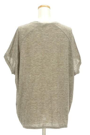 antiqua(アンティカ)の古着「ポコポコ凹凸編みドルマンカットソー(ニット)」大画像2へ