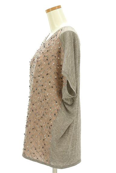 antiqua(アンティカ)の古着「ポコポコ凹凸編みドルマンカットソー(ニット)」大画像3へ