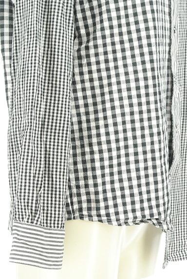 antiqua(アンティカ)の古着「アシンメトリーチェック柄シャツ(カジュアルシャツ)」大画像5へ