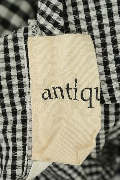 antiqua(アンティカ)の古着「アシンメトリーチェック柄シャツ(カジュアルシャツ)」大画像6へ