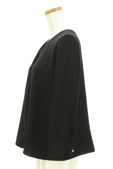 SunaUna(スーナウーナ)の古着「ワンポイントパールタックカットソー(カットソー・プルオーバー)」大画像3へ
