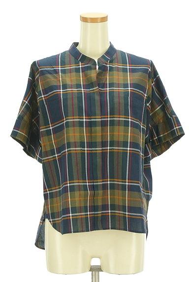 Maison de Beige(メゾンドベージュ)の古着「バンドカラーチェック柄シャツ(カジュアルシャツ)」大画像1へ