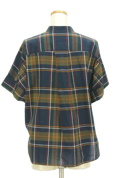 Maison de Beige(メゾンドベージュ)の古着「バンドカラーチェック柄シャツ(カジュアルシャツ)」大画像2へ