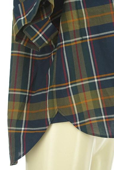 Maison de Beige(メゾンドベージュ)の古着「バンドカラーチェック柄シャツ(カジュアルシャツ)」大画像5へ