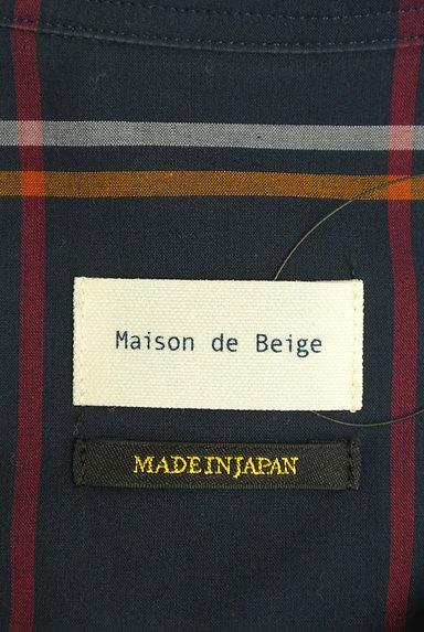 Maison de Beige(メゾンドベージュ)の古着「バンドカラーチェック柄シャツ(カジュアルシャツ)」大画像6へ